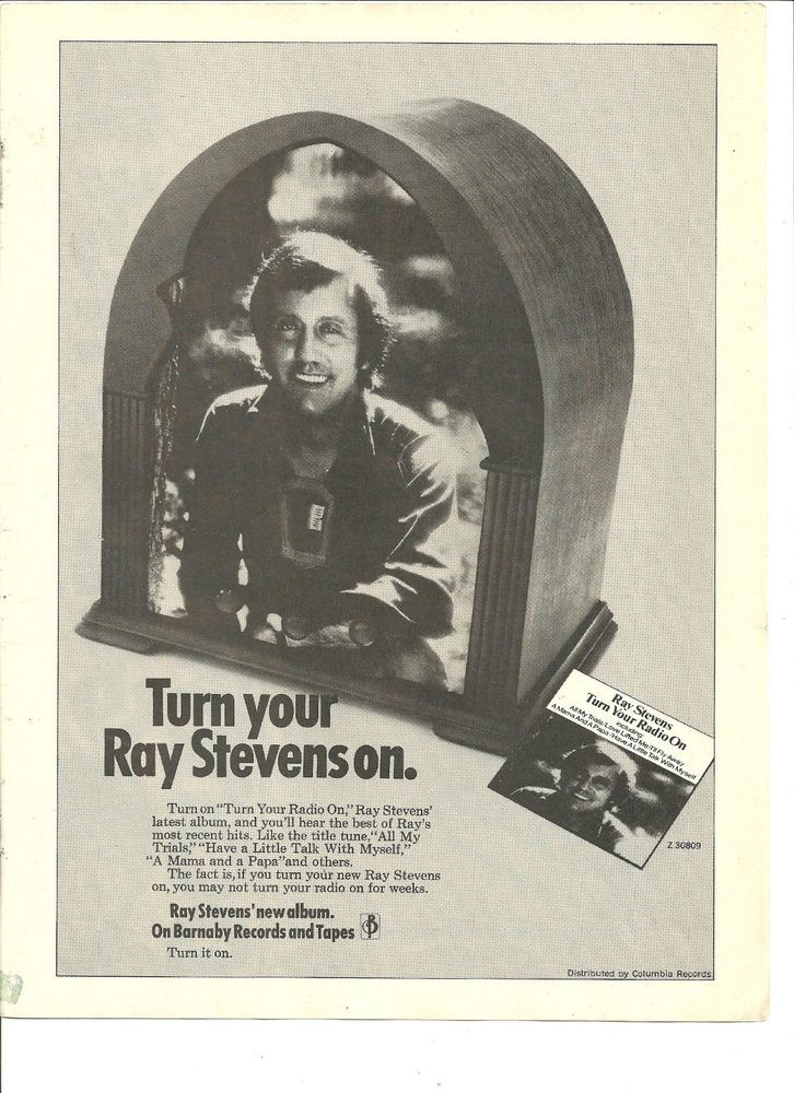 Ray stevens turn your radio on full page promo ad