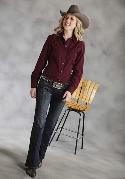 Aged Wine : Women's Cowgirl Shirt