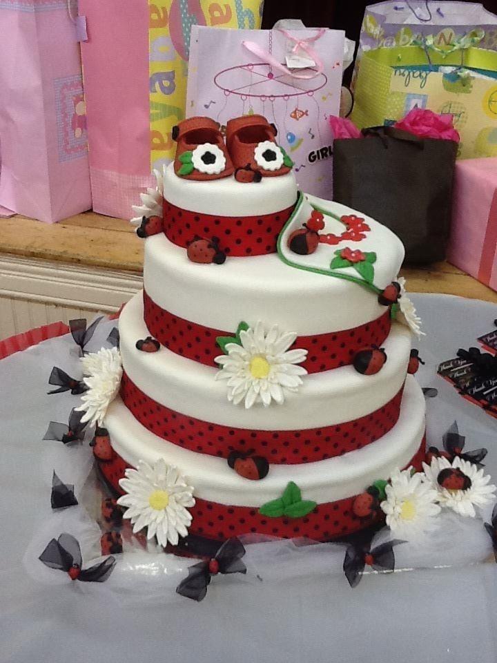 Living room decorating ideas ladybug baby shower cake ideas for Baby shower cake decoration ideas