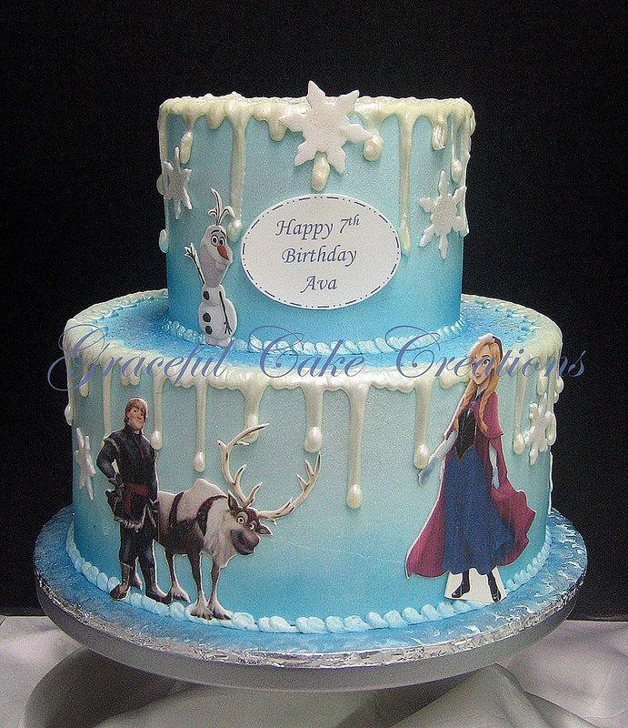 Frozen Birthday Cake  Disneys Frozen Cakes  Pinterest