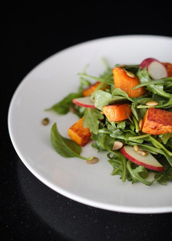Roasted Butternut Squash & Apple Salad with Honey Dijon Dressing ...
