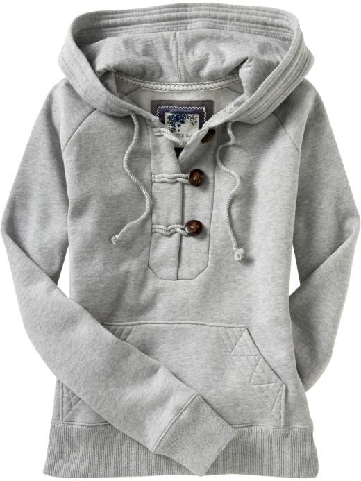Women: Women's Toggle-Button Hoodies: Layered Looks | Old Navy