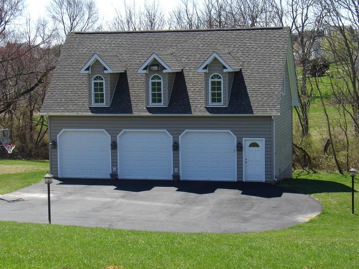 Three car detached garage pole barn garage designs for Pole barn garage designs