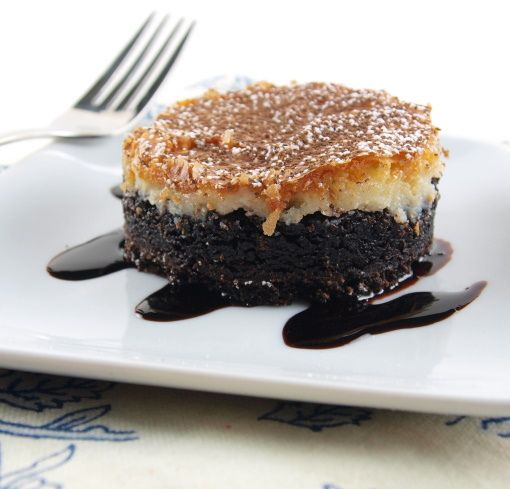 Black and White Gooey Butter Cake.. I'm eating this right now and it ...