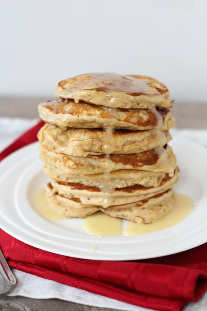 Eggnog Pancakes with Eggnog Glaze | Christmas | Pinterest