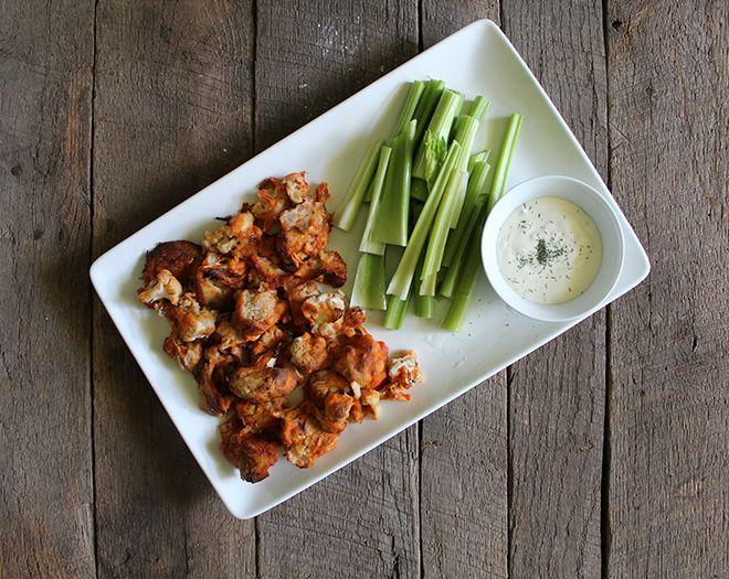 Buffalo Cauliflower Bites & Ranch Dip