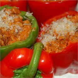 Bolognese Stuffed Bell Peppers - Allrecipes.com Added : Italian turkey ...