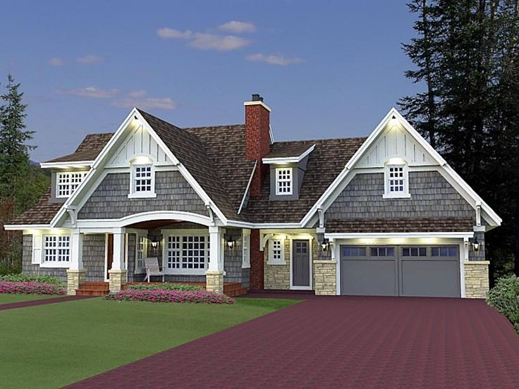Cottage craftsman french country house plan 42646 for Country craftsman home plans