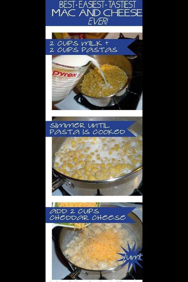 Easy Mac N Cheese | recipes | Pinterest