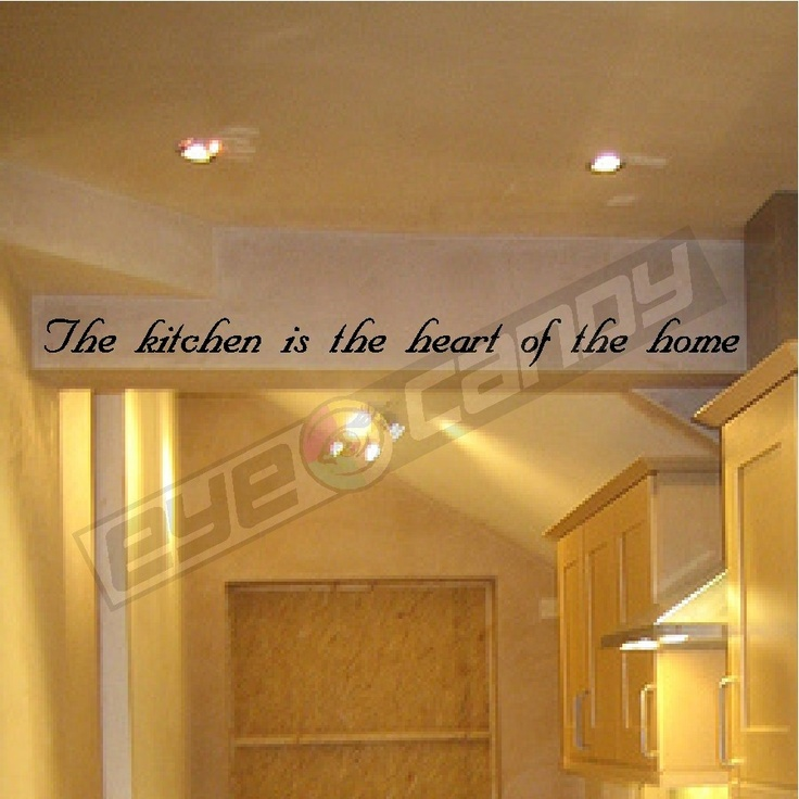 The kitchen is the wall quotes sayings words lettering for Kitchen quote decals