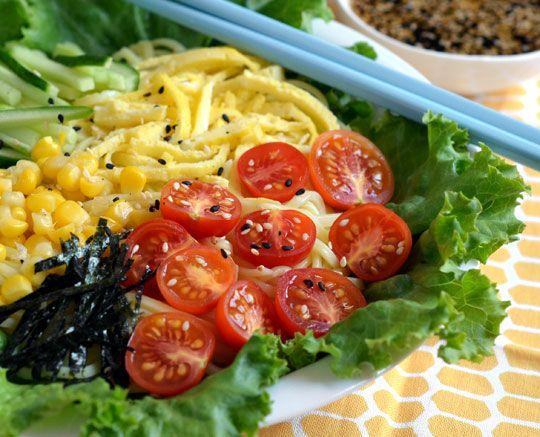 Recipe: Japanese Cold Noodle Salad (Hiyashi Chuka) Recipes from The ...