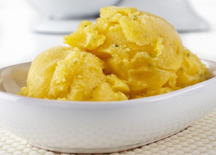 Minted Lime mango sorbet | Drinks and Desserts | Pinterest