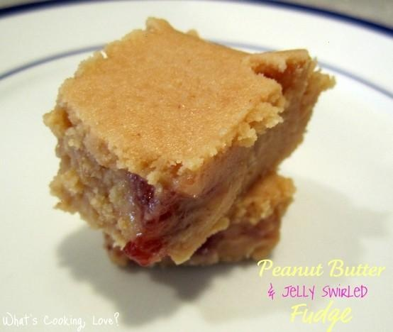 Peanut butter and jelly swirled fudge | Sweets | Pinterest