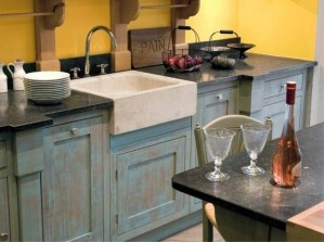Pierre bleue du hainaut mobilier cuisine plan de - Plan de travail pierre bleue prix ...