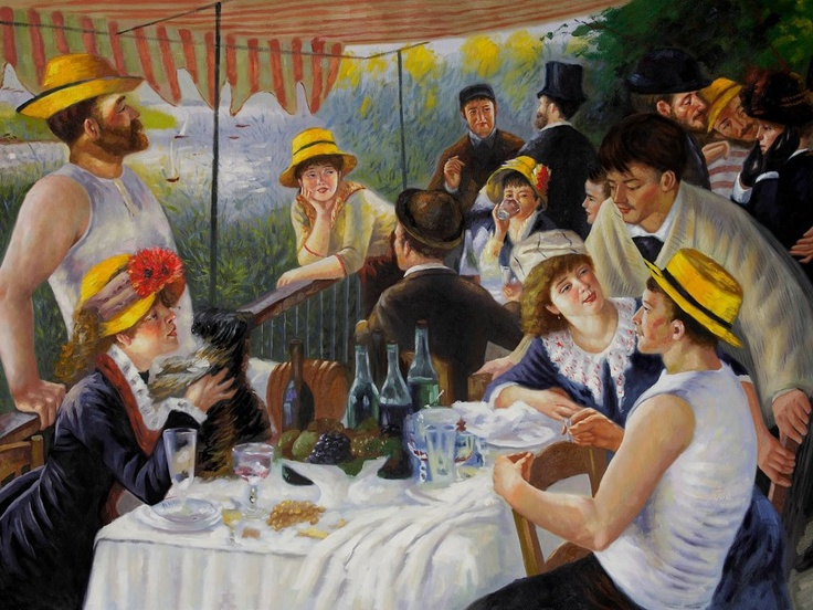 renoir luncheon of the boating party Luncheon of the boating party (1881 french: le déjeuner des canotiers) is a painting by french impressionist pierre-auguste renoirincluded in the seventh impressionist exhibition in 1882, it was identified as the best painting in the show by three critics.