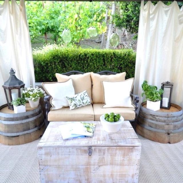 outdoor decor rustic whitewash