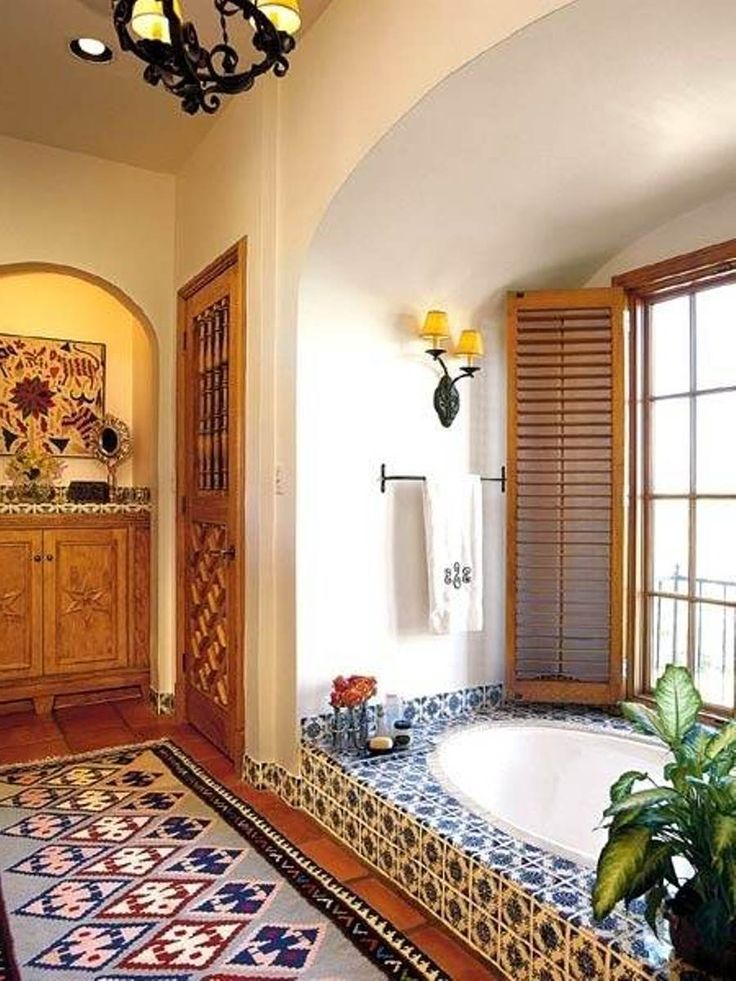 Mexico Interior Bathroom Spanish Casita Pinterest