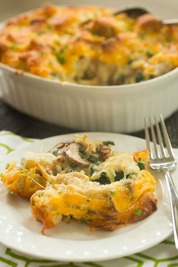 Make-Over Breakfast Sausage And Mushroom Strata Recipe — Dishmaps