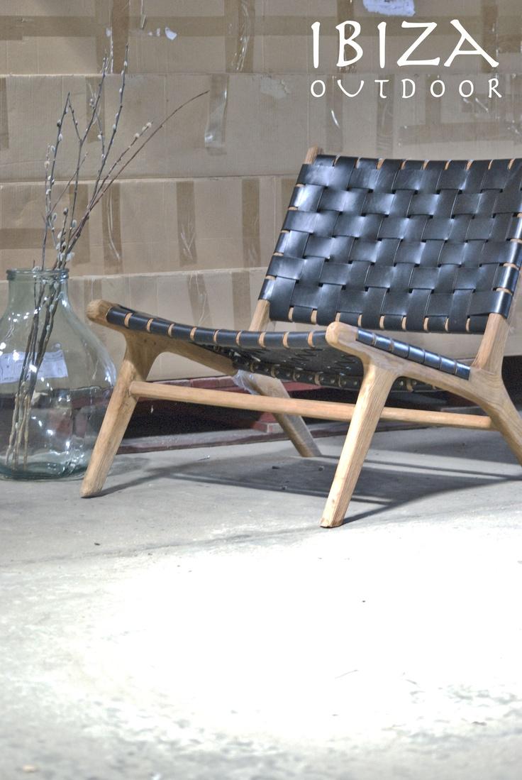 Ushuaia vintage lounge stoel nu ook met zwart leer, bij interesse ...