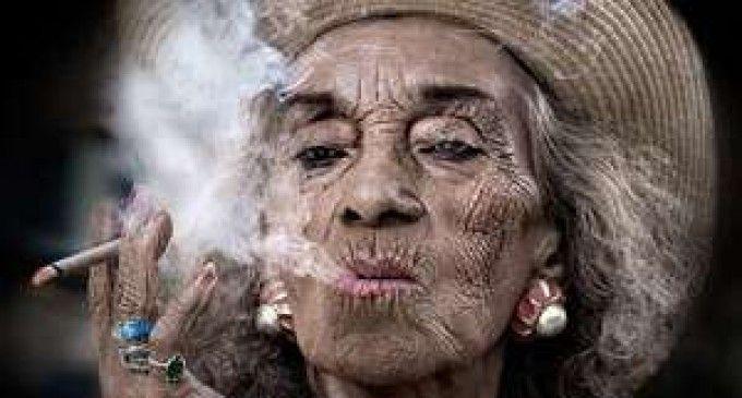 Facial wrinkles smoking