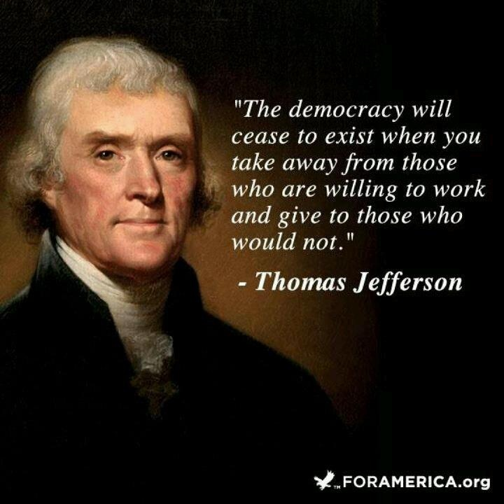 """""""The democracy will cease to exist when you take away from"""