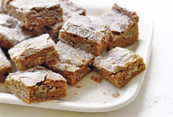 Cinnamon Pecan Blondies. I think I started to drool as I was reading ...
