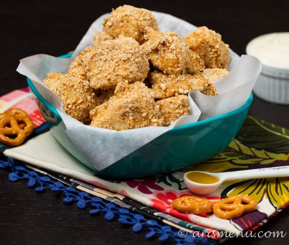 Pretzel-Crusted Chicken Breasts With Mustard-Dill Dipping Sauce Recipe ...