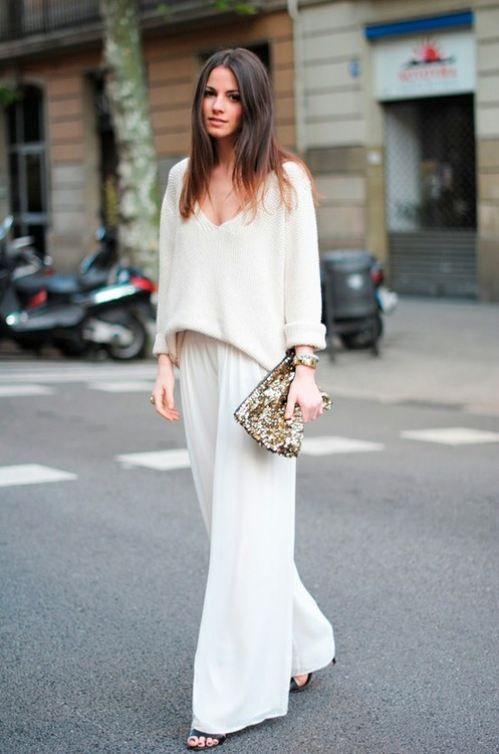 All white ensemble