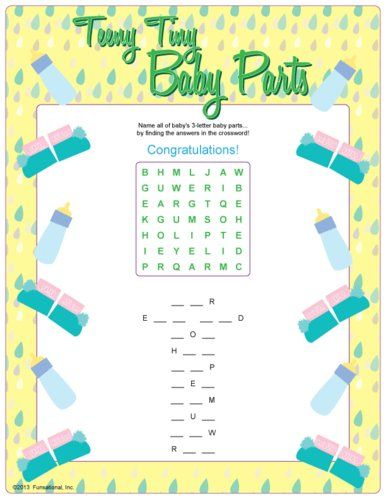 Fun Baby Shower Printable Games