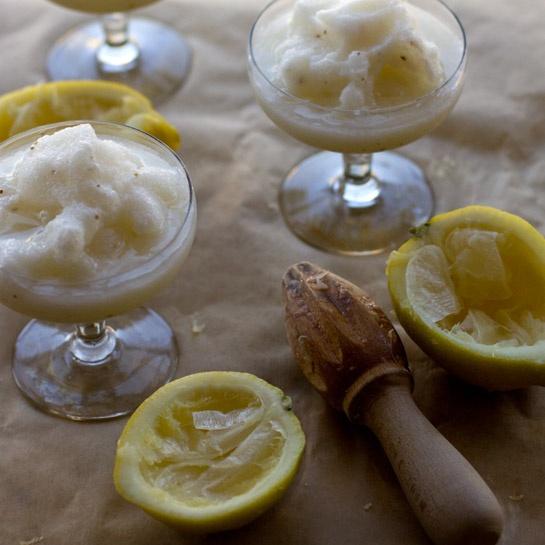 love lemonade and ouzo so this Lemon Anise Slush recipe sounds ...