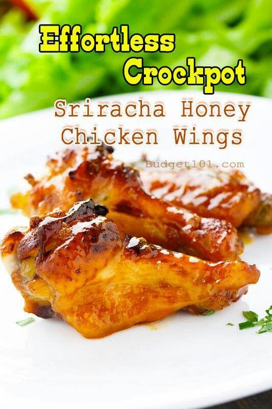 Sriracha honey wings | Crock Pot Cooking | Pinterest
