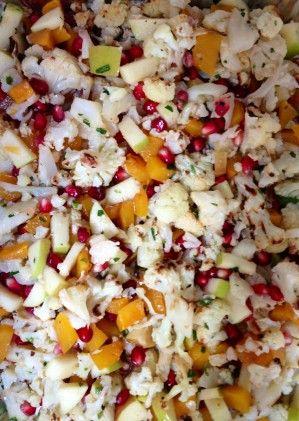Roasted Cauliflower, Butternut Squash And Pomegranate Salad Recipe