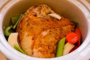 How to Cook a Turkey Breast in the Crockpot and South Beach Diet Frie ...