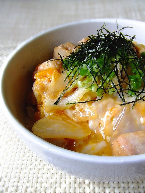 Chicken and egg on rice (Oyakodon) | food : japanese | Pinterest