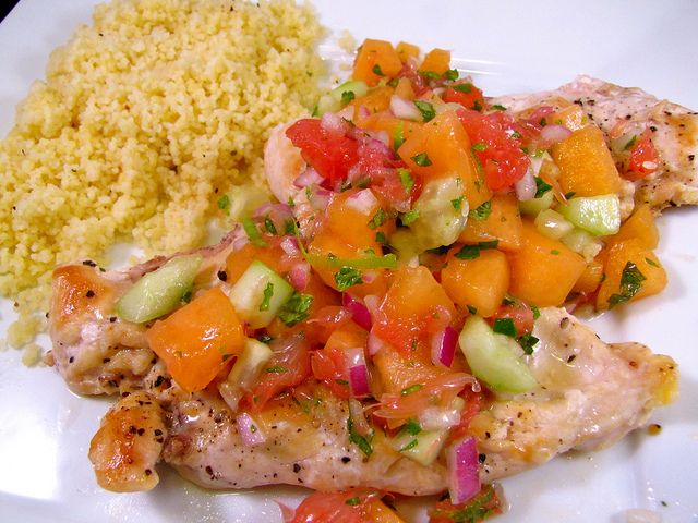 cucumber melon salsa grilled swordfish with cucumber melon salsa ...