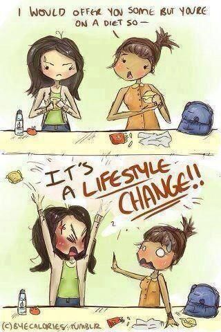 No diet but a lifestyle change!