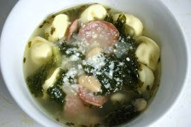 ... : Cheese Tortellini & Kielbasa Soup with Cannellini Beans and Kale