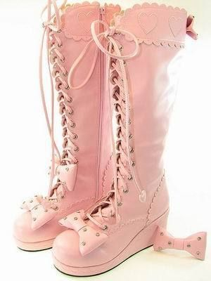 Розовый Лолита Сапоги
