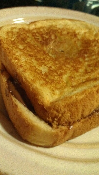 and Peanut butter sandwich that's GRILLED! Just like a grilled cheese ...