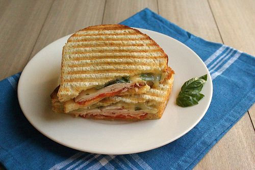 Turkey Panini (minus the tomato) | Paninis | Pinterest