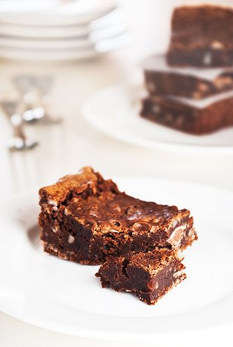 Fudgy brownies #chocolate #desserts #brownies