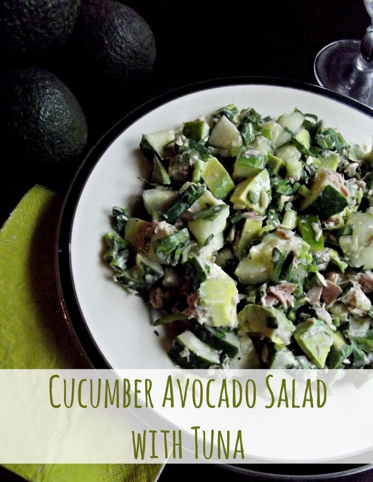 Tuna Tartare With Cucumber Salad And Avocado Recipe — Dishmaps