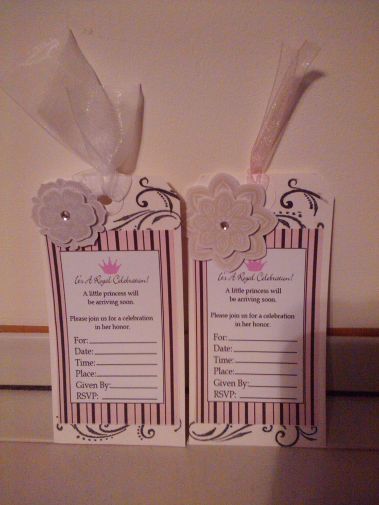 homemade baby shower invitations babygirl shower pinterest