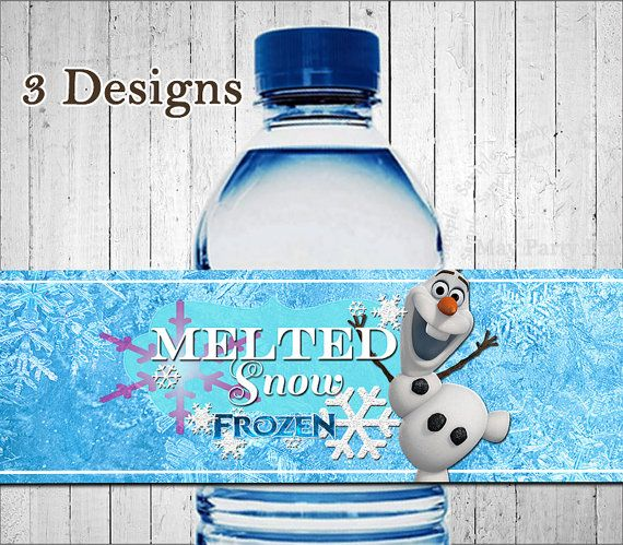 Melted Frozen Snow Water Bottle Free Printables | Party ...
