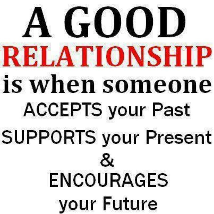 a good relationship is