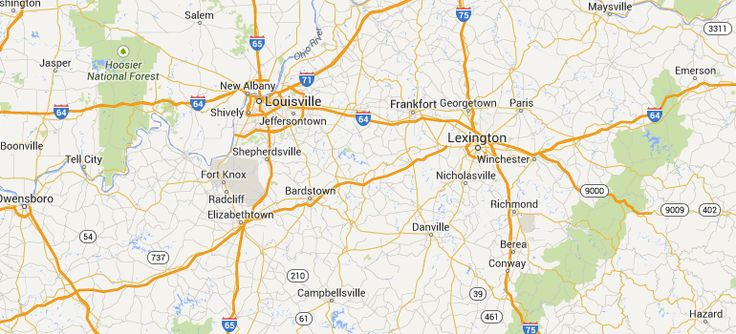Map Kentucky Bourbon Trail places to go and things to do Pinter