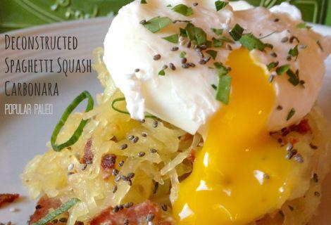 Fast Paleo » Deconstructed Spaghetti Squash Carbonara - Paleo Recipe ...