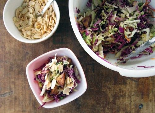 chopped miso slaw with tofu from everybody likes sandwiches