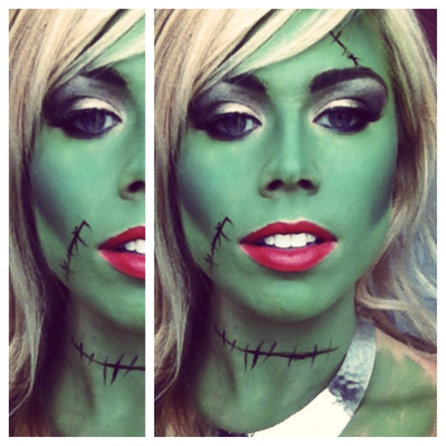 my frankenstein halloween makeup halloween pinterest