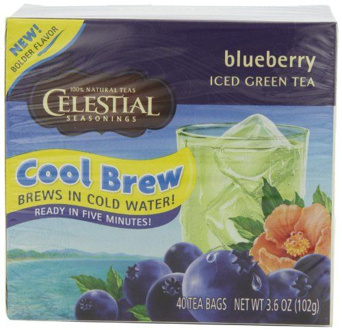 Celestial Seasonings Blueberry Cool Brew Iced Green Tea, 40-Count Tea ...